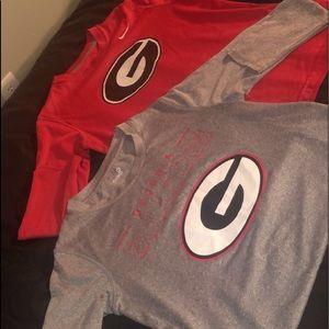 Georgia Bulldogs Long Sleeve Dri-Fit Shirts